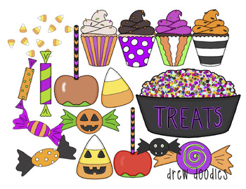 Halloween Treats Digital Clip Art Set