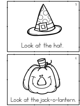 Halloween Treats Emergent Reader