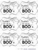 Halloween Test Motivation and Staff - Teacher Thank You Tags Freebie