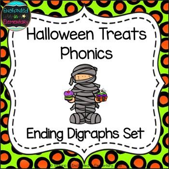 Halloween Treats Phonics: Ending Digraphs Pack