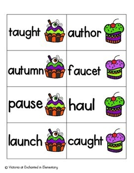 Halloween Treats Phonics: Vowel Digraphs and Diphthongs Pack 2: aw, au, oi, oy