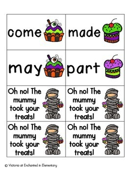 Halloween Treats Sight Words! Fry List 1