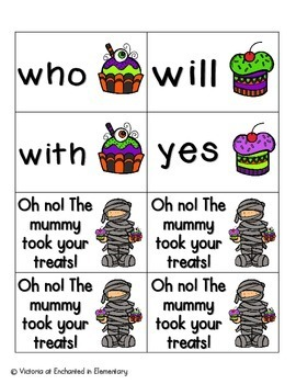Halloween Treats Sight Words! Primer List Pack