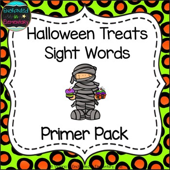 Halloween Treats Sight Words! Primer List Pack
