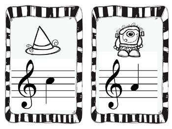 Halloween Treble Clef Note Name Scavenger Hunt