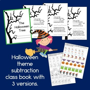 Halloween Tree: An addition and subtraction poem, craft, and class book