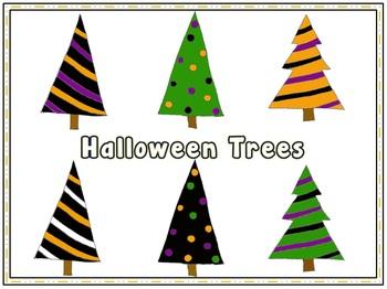 Halloween Trees {clipart} {freebie}