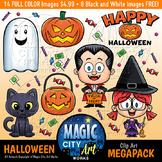 Halloween Trick Or Treat Clip Art Set! Holiday Pumpkin Can