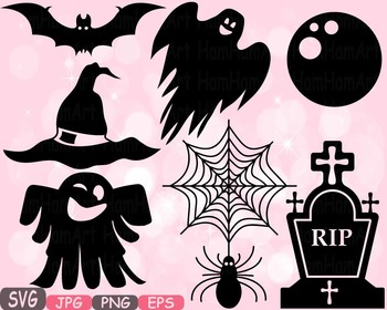 Halloween Trick Or Treat Witch boo bat Spiderweb Tshirt hat rip clipart svg 487s