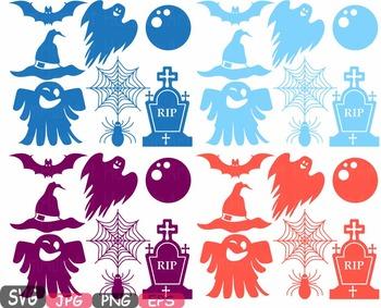 Halloween Trick Or Treat Witch boo bat Spiderweb Tshirt hat rip clipart svg 490s