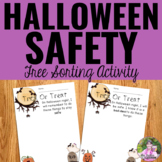 Halloween Safety Sorting Activity Freebie
