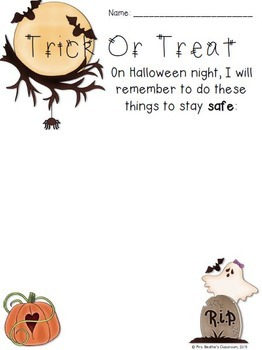 Halloween Safety Sorting Activity Freebie