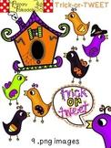 Halloween: Trick or TWEET {Primary Polka Dots Clip Art}