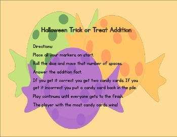 Halloween Trick or Treat Addition Board Game Set
