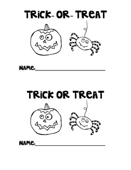 Halloween Trick-or-Treat Book