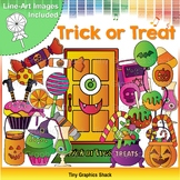 Halloween Trick or Treat Candy Clip Art