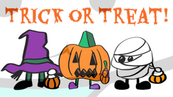 Halloween Trick Or Treat Clipart.Halloween Trick Or Treat Clip Art And Coloring Tpt