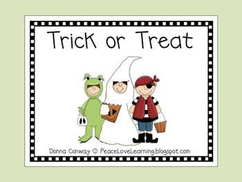 Halloween Trick or Treat Emergent Reader