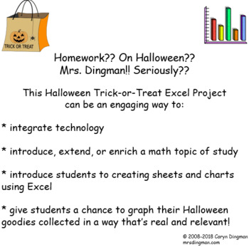 Halloween Trick-or-Treat Excel-lent Graphing