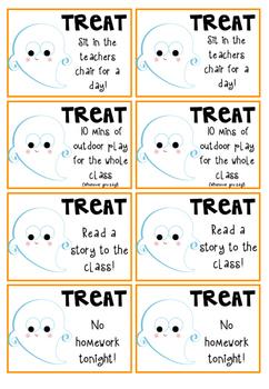 Halloween Trick or Treat Freebie