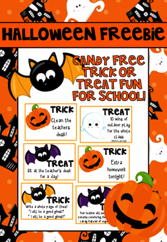 Halloween Trick or Treat Freebie