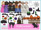 Halloween {Trick or Treat} Kids Clipart