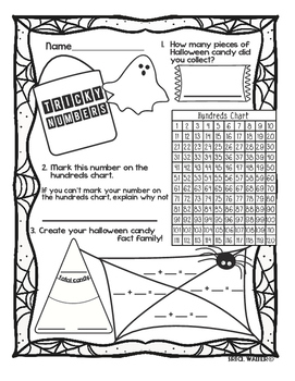 Tricky Numbers - Halloween Math Homework