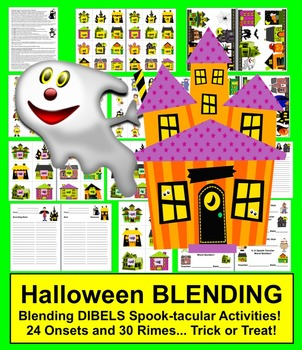 Halloween Activities: Blending Onset Rime Level 1