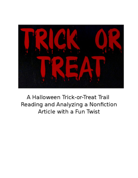 Halloween Trick-or-Treat Trail: Analyzing a Nonfiction Article with a Fun Twist