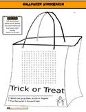Halloween Trick or Treat Wordsearch