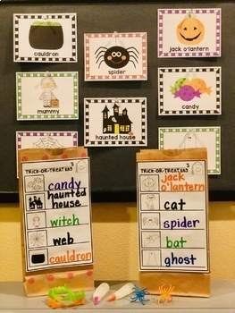 Halloween Trick-or-Treat Write the Room
