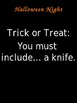 Halloween Trick-or-Treat Writing Activity