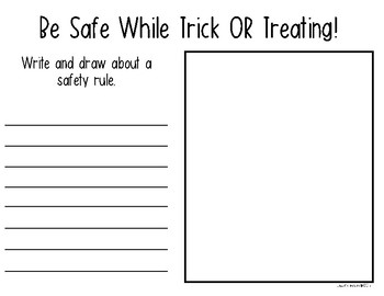 Halloween Trick or Treating Safety Mini Posters for Kindergarten & First Grade