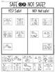 Halloween Trick or Treating Safety Sort - First Grade & Kindergarten