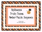 Halloween Tricky Teens Number Puzzle Sequence