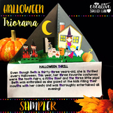 Halloween Triorama Sampler for Articulation, Language and Social Skills