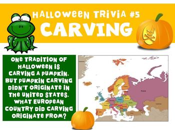 Halloween Trivia Activity and Facts