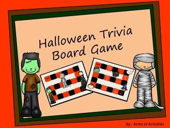Halloween Trivia Board Game