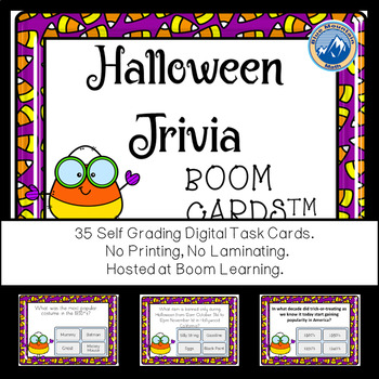 Halloween Trivia Boom Cards--Digital Task Card