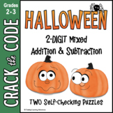 Halloween | Two-Digit Addition & Subtraction | Crack the C