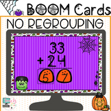 Halloween Math Two Digit Addition WITHOUT Regrouping BOOM Cards