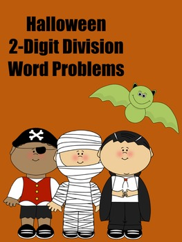 Halloween Two-Digit Division Word Problems