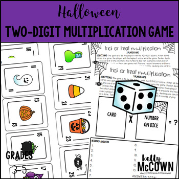 Halloween Two Digit Multiplication Game