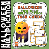 Halloween Two-Digit Multiplication Task Cards