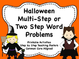 Halloween Two Part or Multi-Step Word Problems