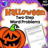 Two-Step Word Problems - Halloween Themed