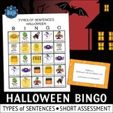 Halloween Bingo Types of Sentences