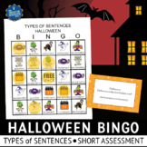 Halloween Bingo Types of Sentences