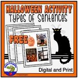 Halloween - Types of Sentences Activity FREE