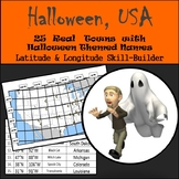 Latitude & Longitude Worksheet - Halloween, USA